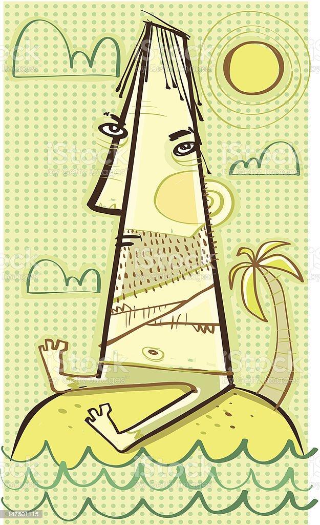 Stranded vector art illustration