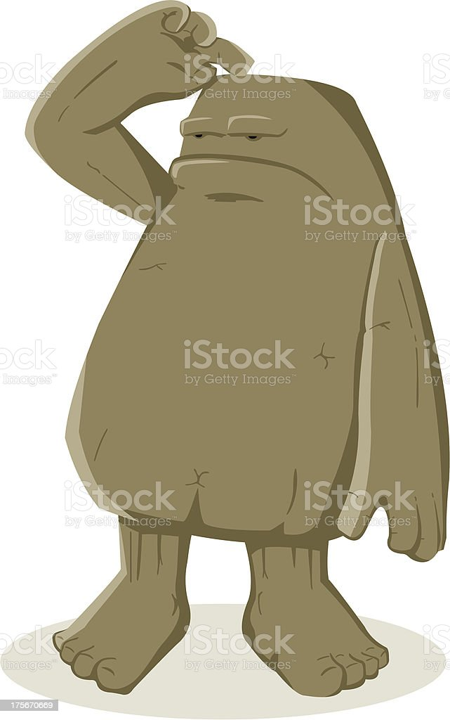 Strange Creature vector art illustration