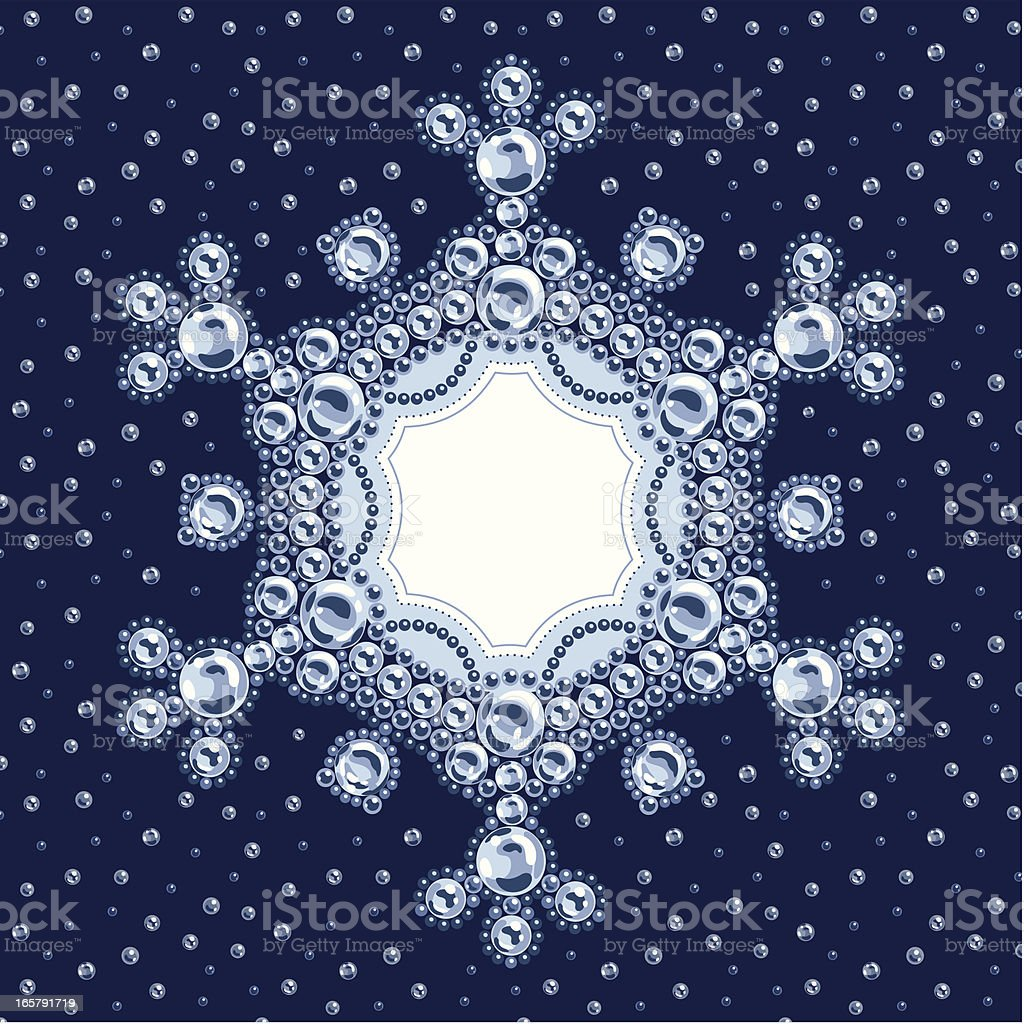 Strass Snowflake Frame royalty-free stock vector art