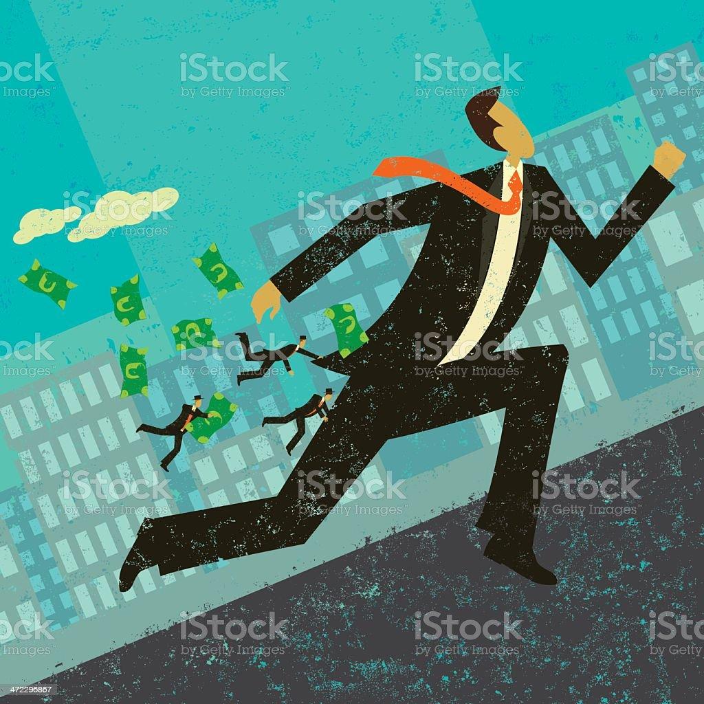 Strategic Business Alliance royalty-free stock vector art