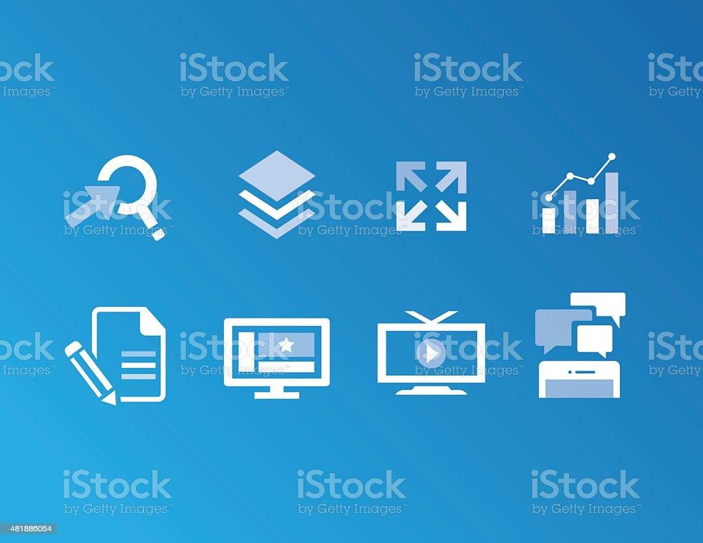 Strategic Solutions Icons vector art illustration