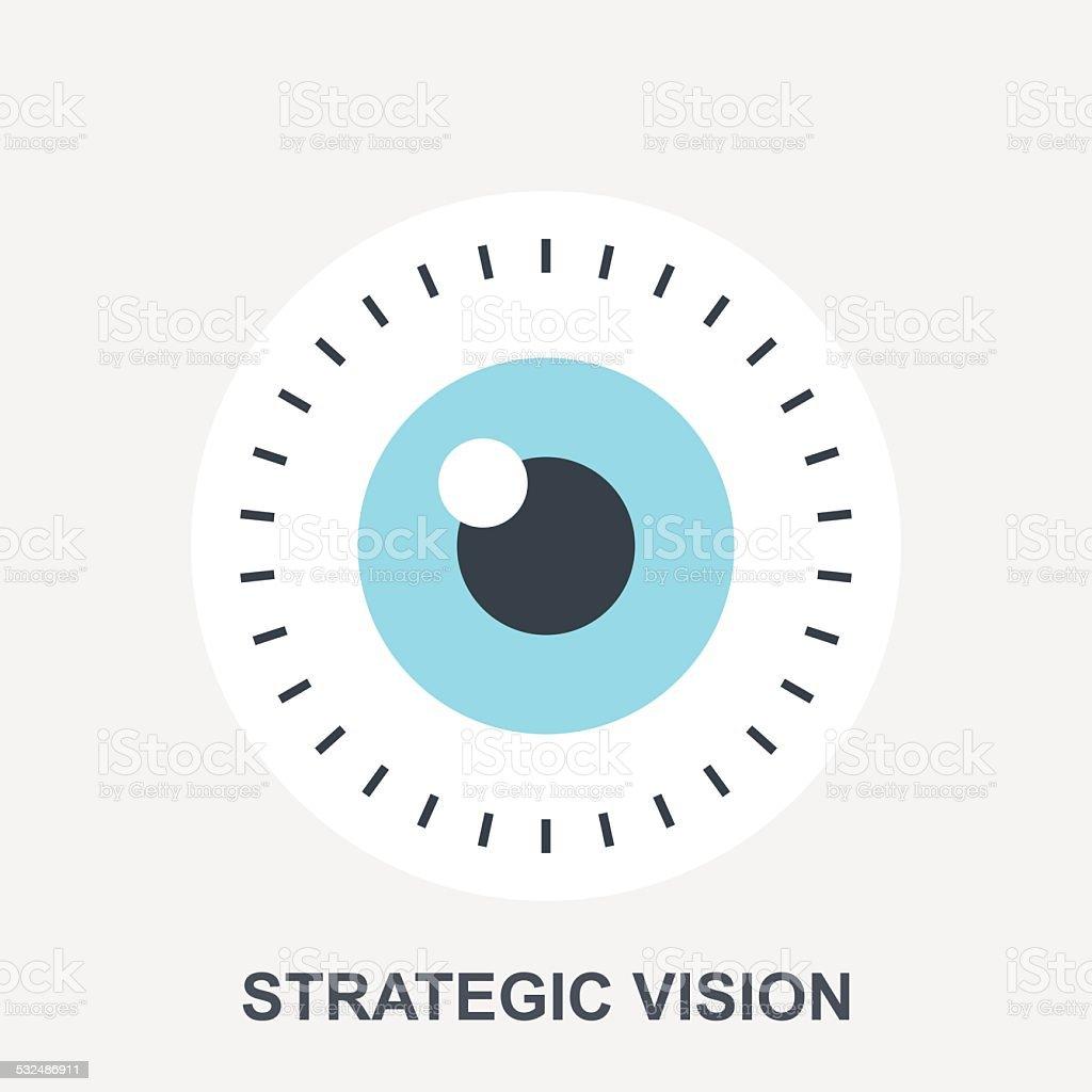 Strategic Vision vector art illustration
