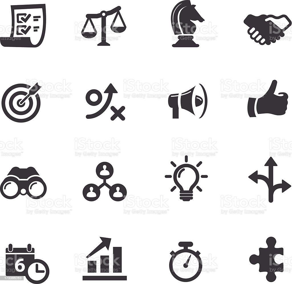 Strategy and Business Icons - Acme Series vector art illustration