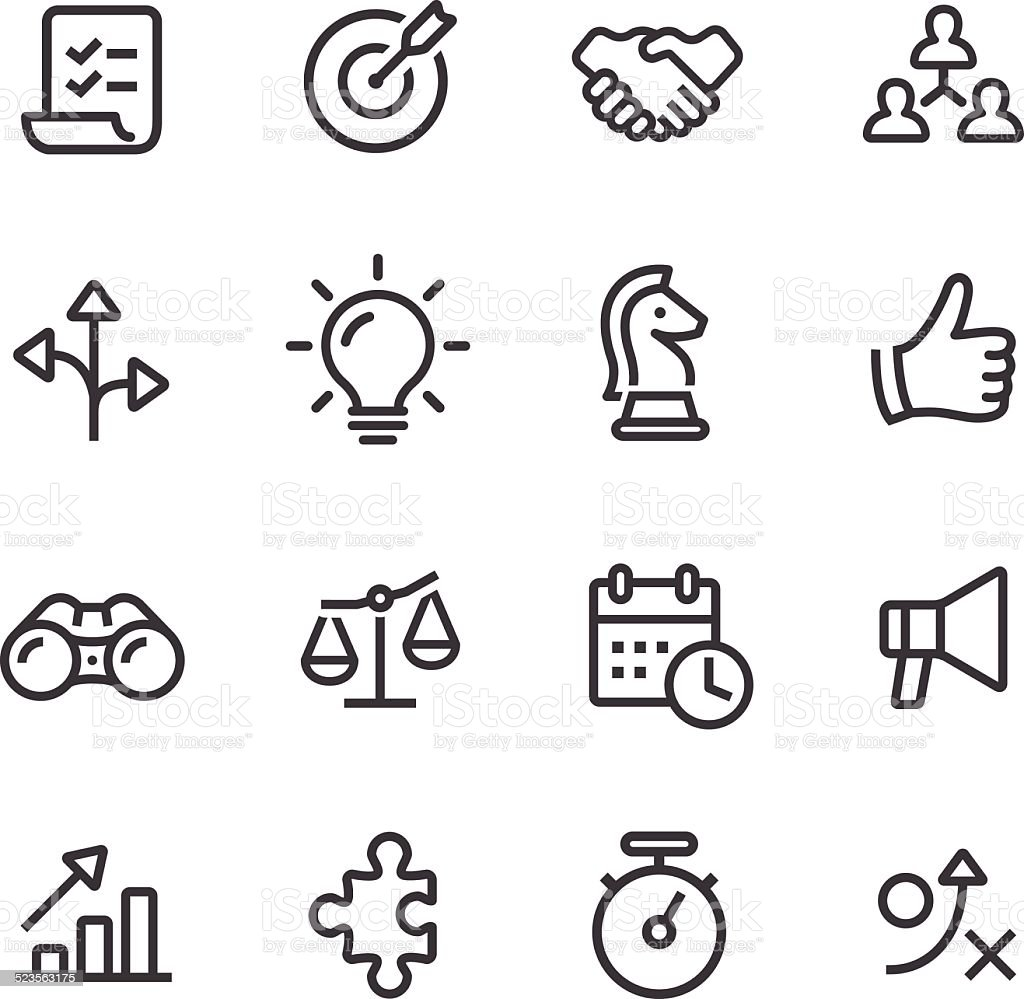 Strategy and Business Icons - Line Series vector art illustration