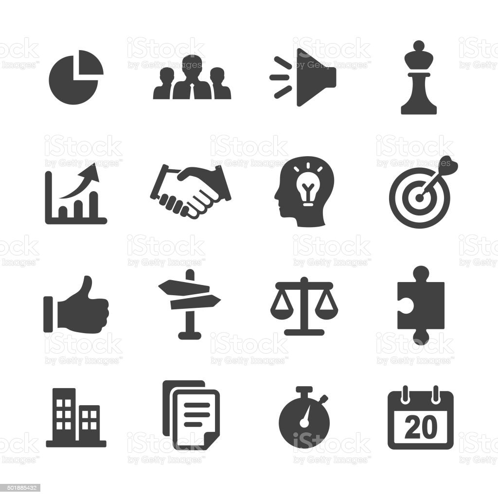Strategy and Business Icons Set - Acme Series vector art illustration