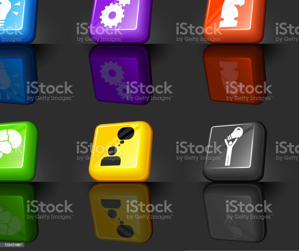 Strategy and development conceptual internet royalty free vector icon set royalty-free stock vector art