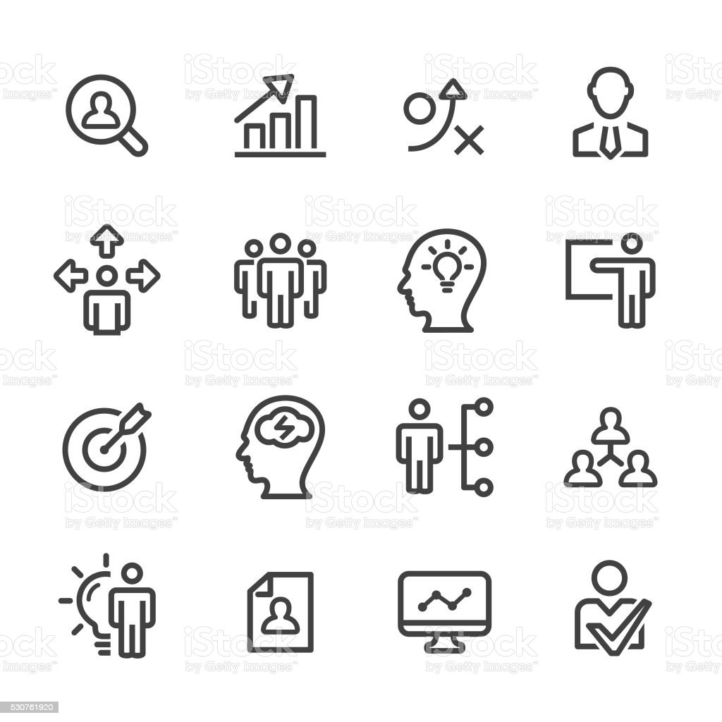 Strategy and Management Icons - Line Series vector art illustration