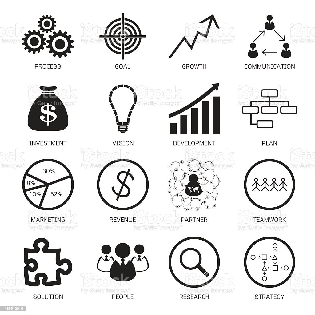 Strategy concept icons. Vector illustration vector art illustration