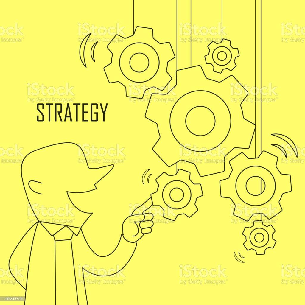 strategy concept vector art illustration