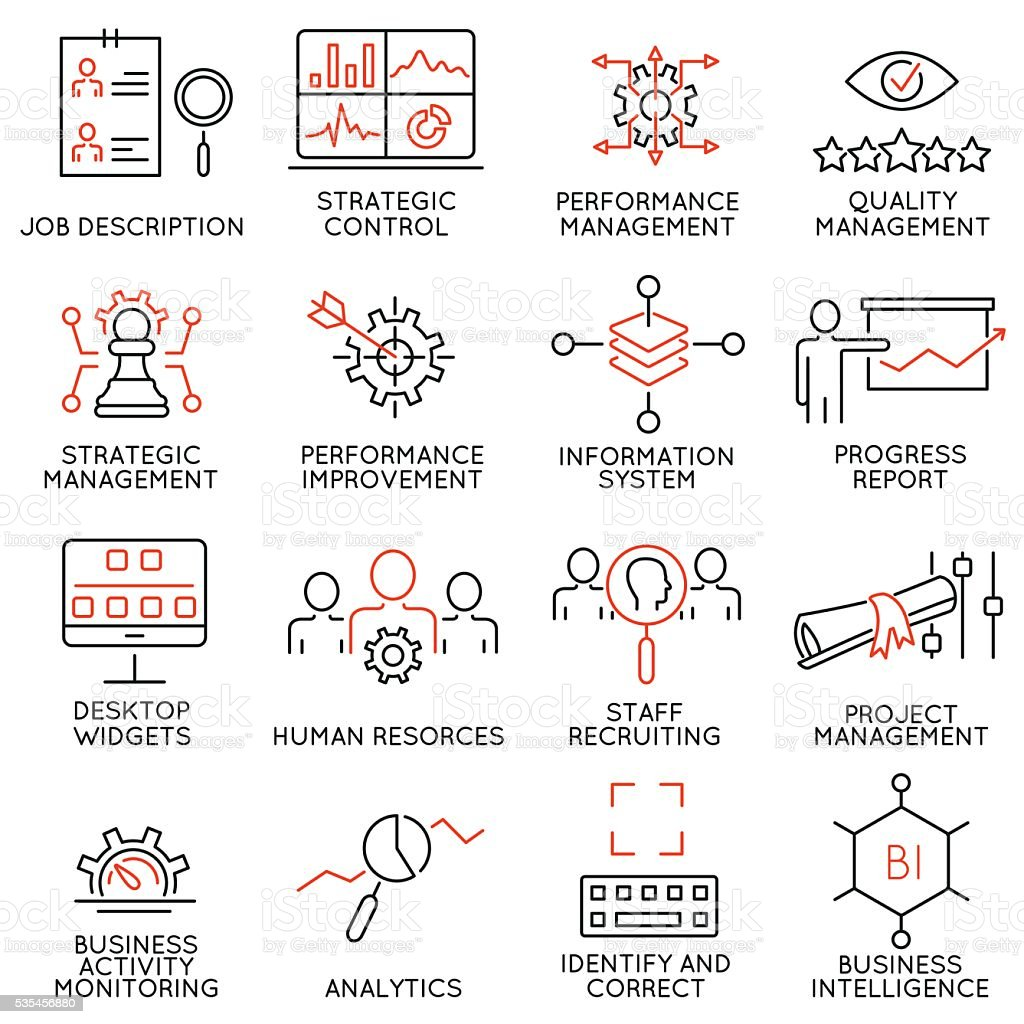 Strategy Management System and Balanced Scorecard - part 2 vector art illustration
