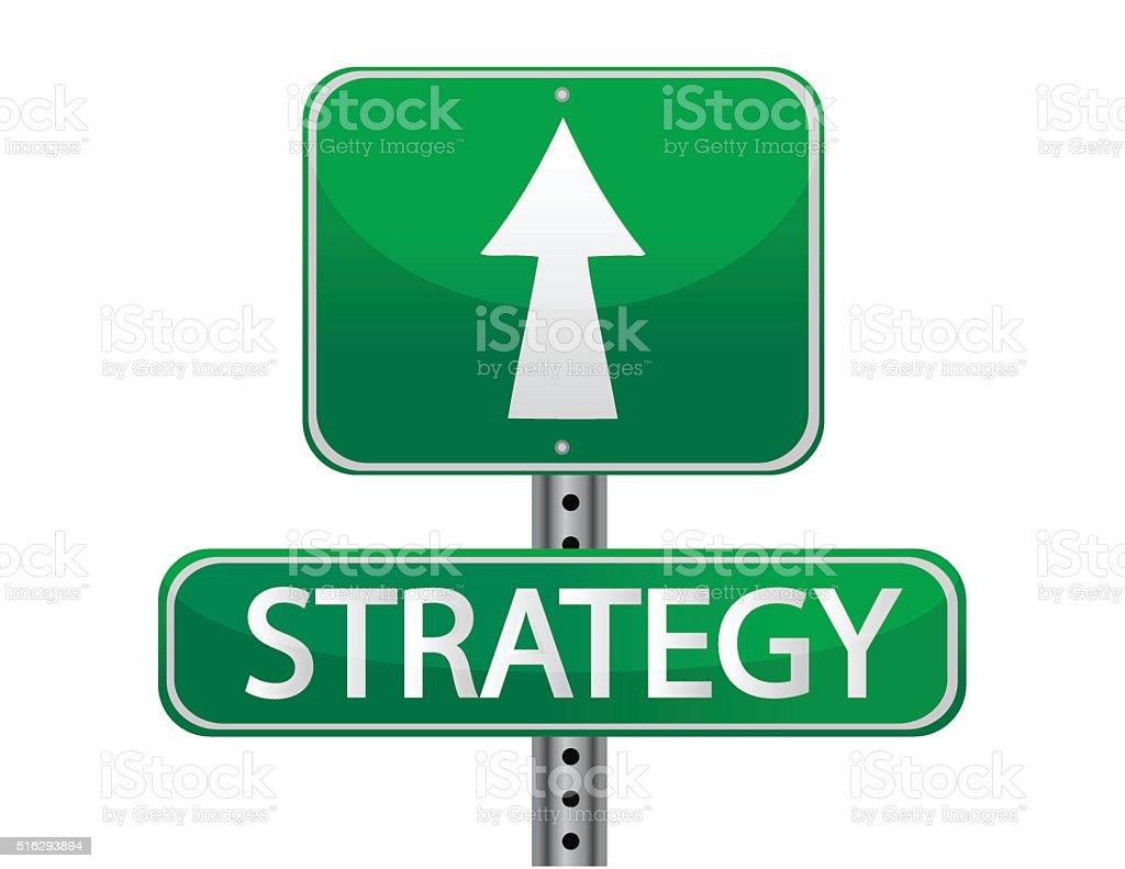 Strategy street sign concept vector art illustration