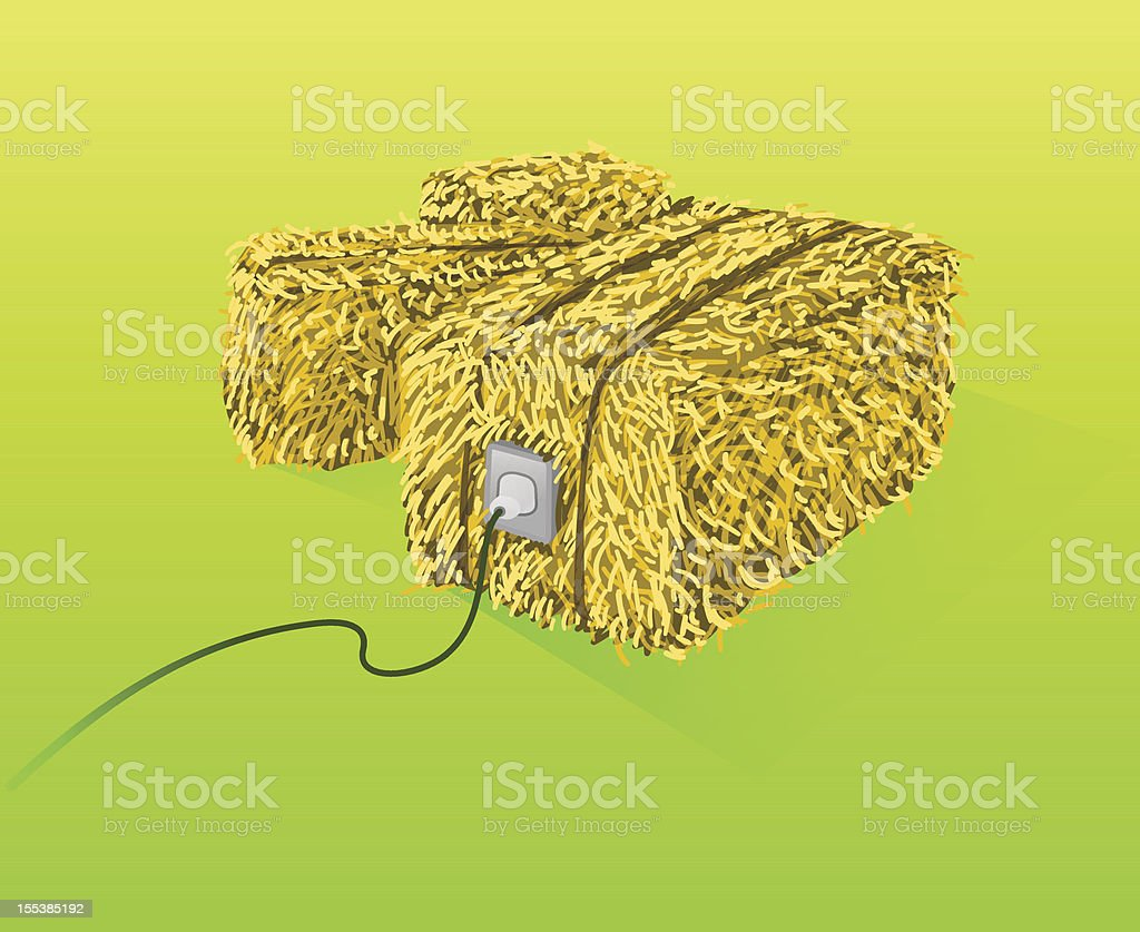 Straw Bales Illustration royalty-free stock vector art