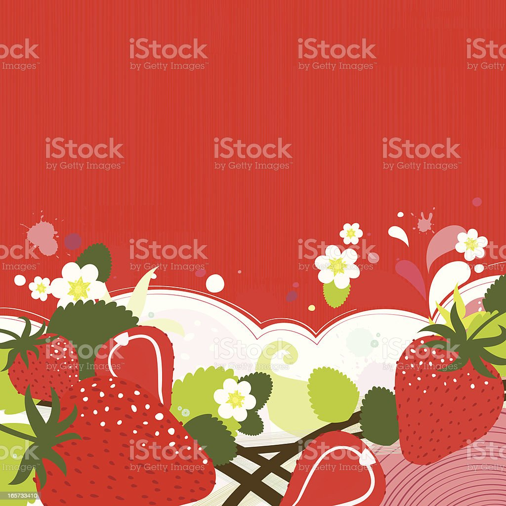 Strawberry backgound royalty-free stock vector art