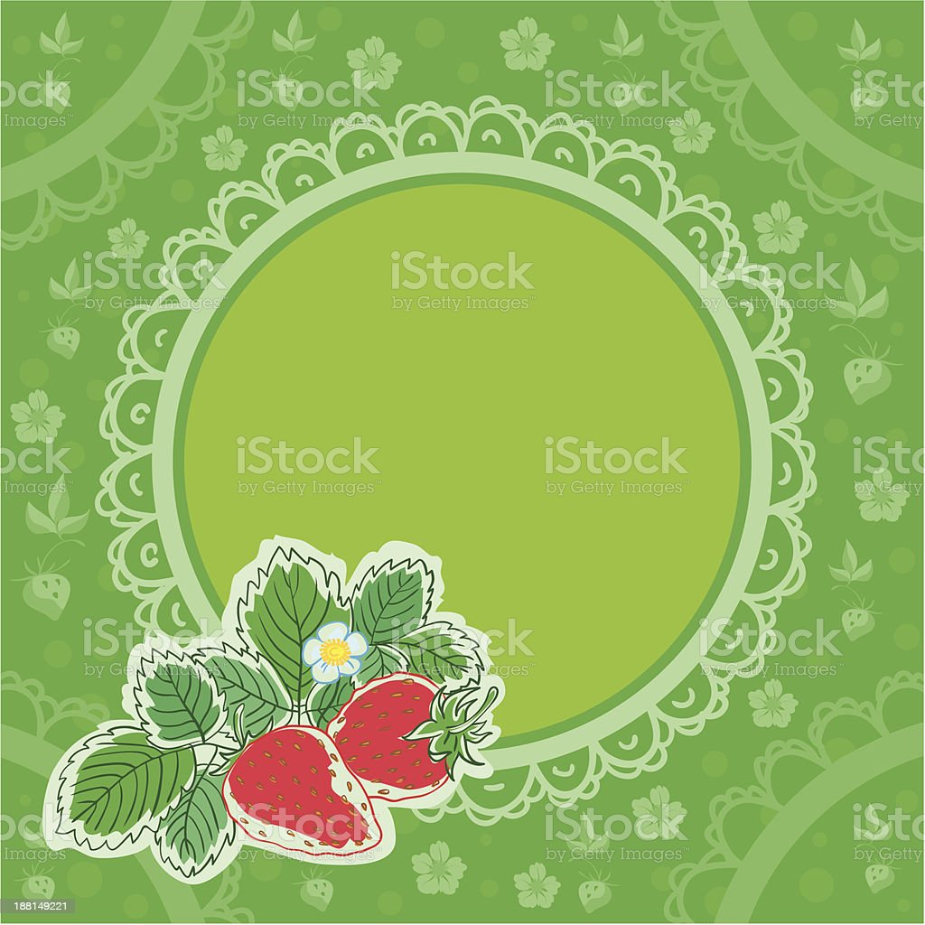 Strawberry background royalty-free stock vector art
