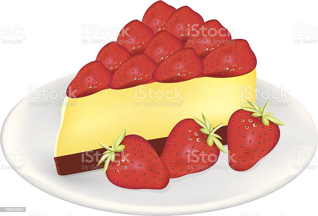Strawberry Cheesecake royalty-free stock vector art
