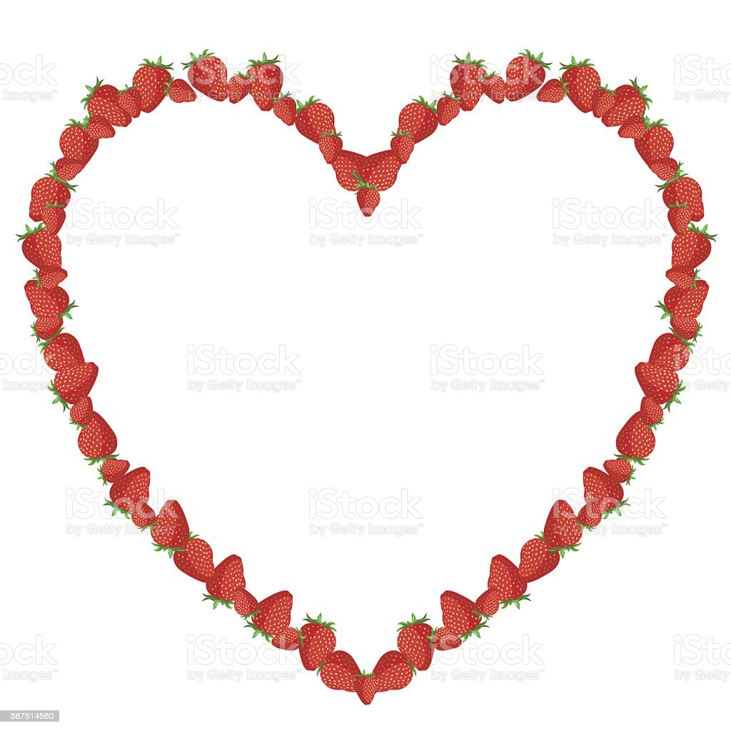 Strawberry heart royalty-free stock vector art