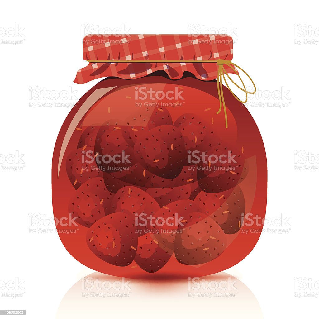 Strawberry Jam Jar royalty-free stock vector art