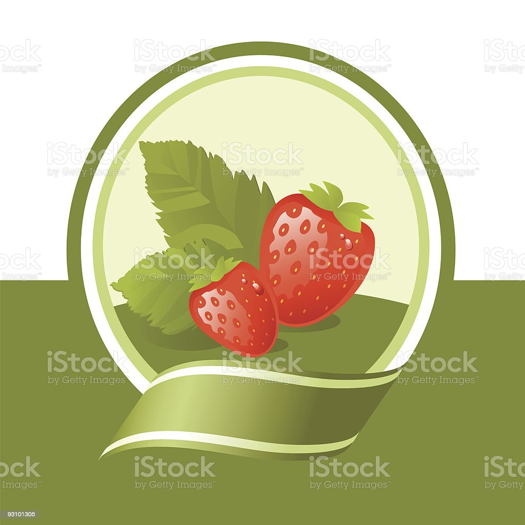 strawberry label royalty-free stock vector art
