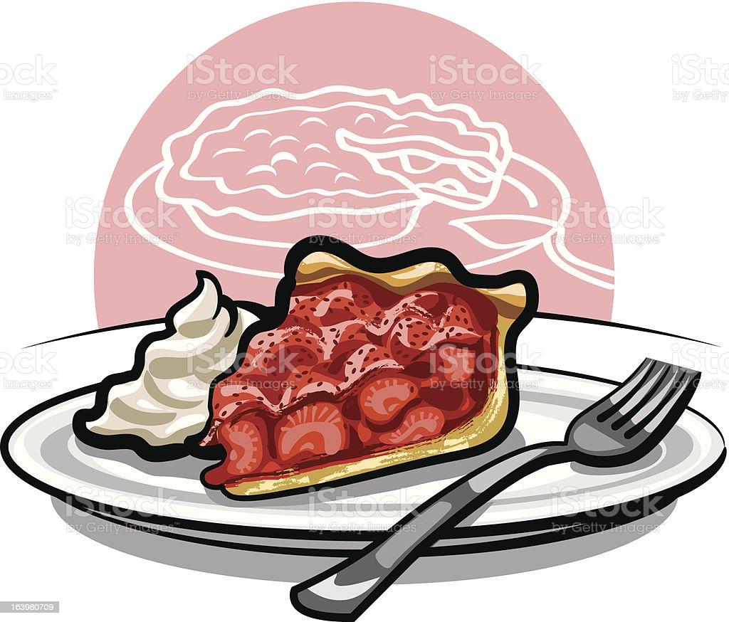 strawberry pie royalty-free stock vector art