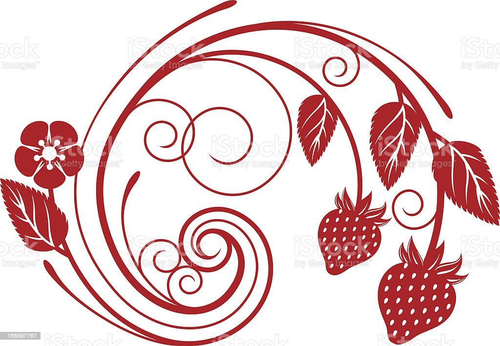 Strawberry swirl design element royalty-free stock vector art