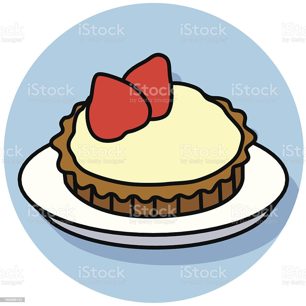 strawberry tart icon royalty-free stock vector art