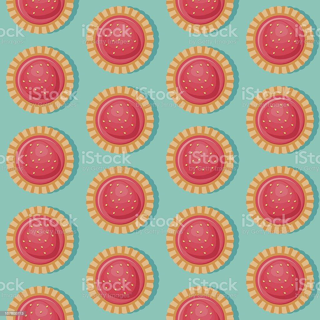 Strawberry Tart Seamless Pattern royalty-free stock vector art