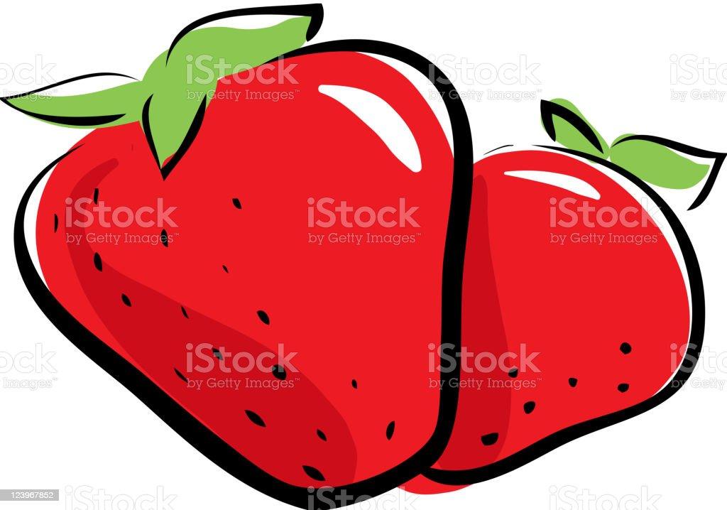 strawberry vector art illustration