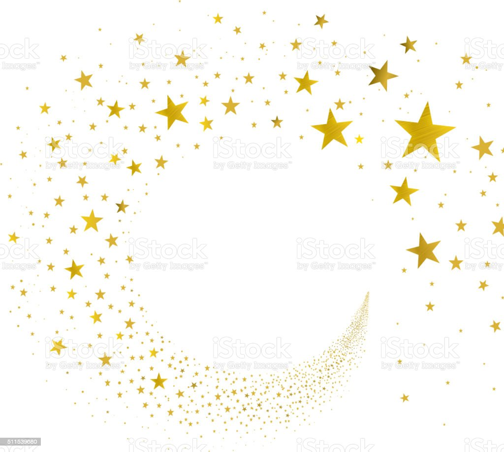 Stream Gold Stars vector art illustration