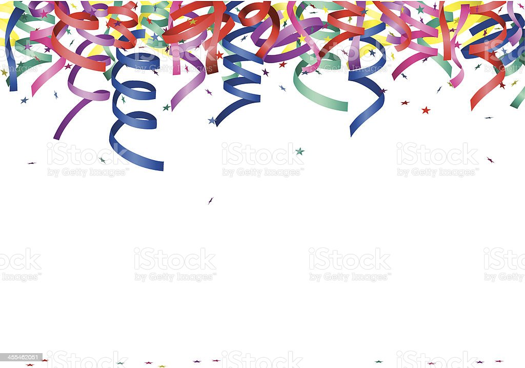streamers and stars royalty-free stock vector art
