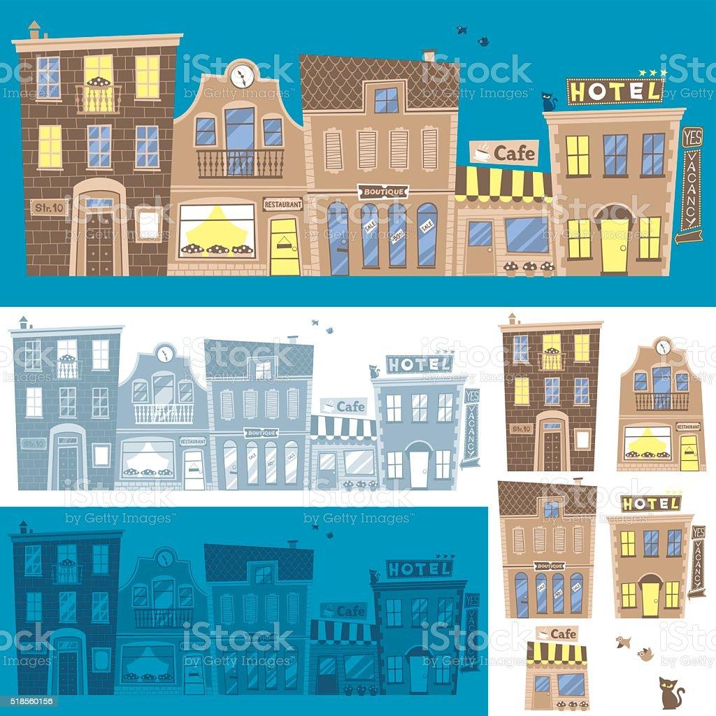 Street Background vector art illustration