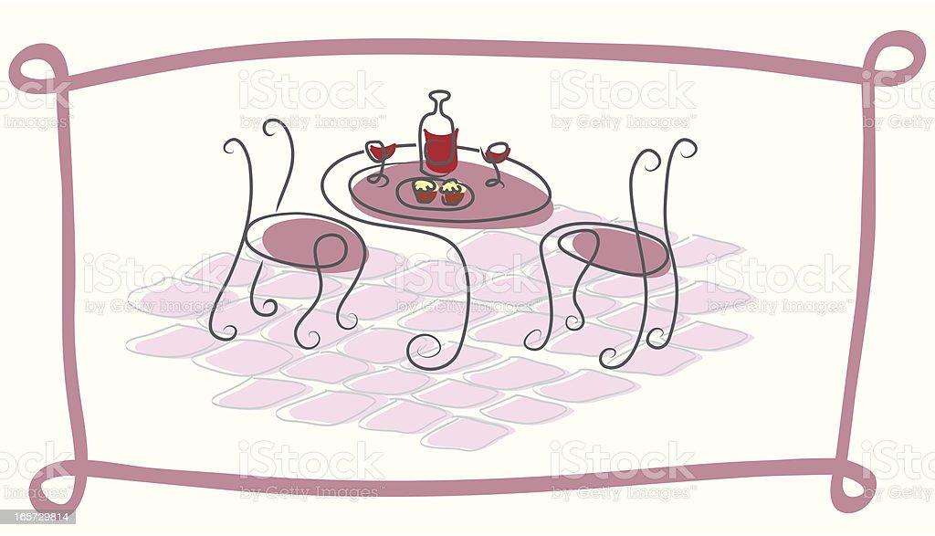 street cafe vector art illustration