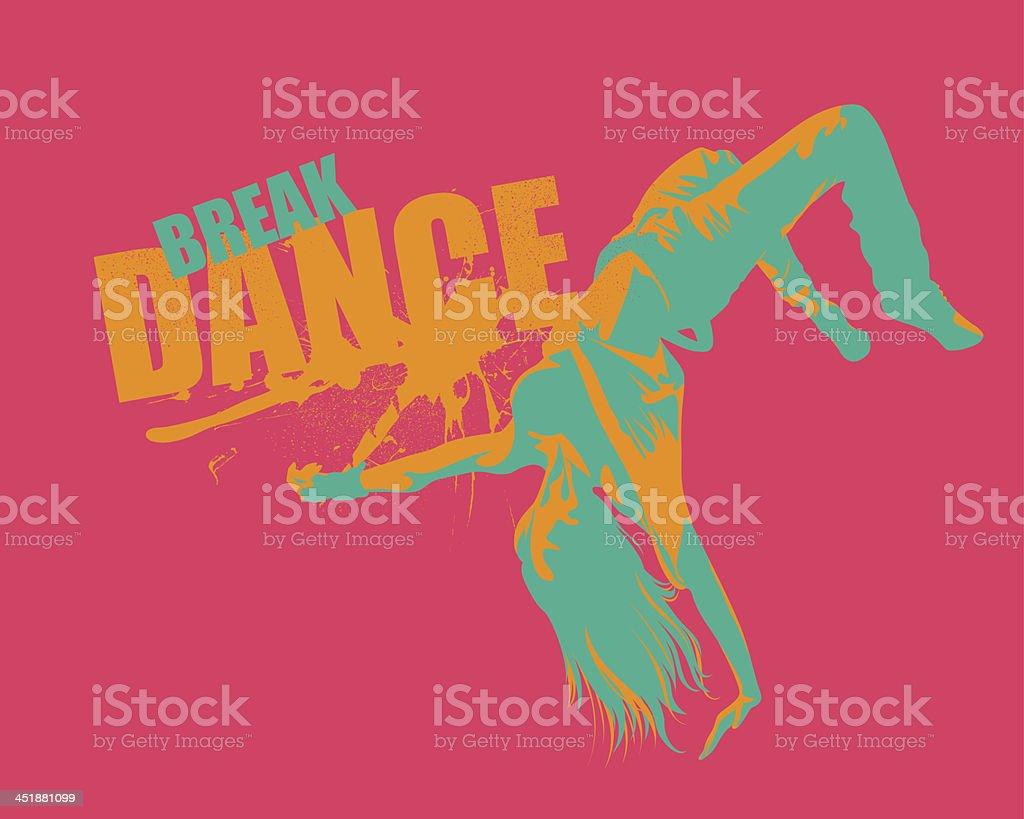 Street Dancing royalty-free stock vector art