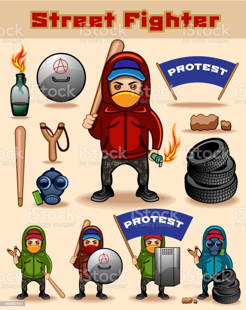 Street Fighter vector art illustration