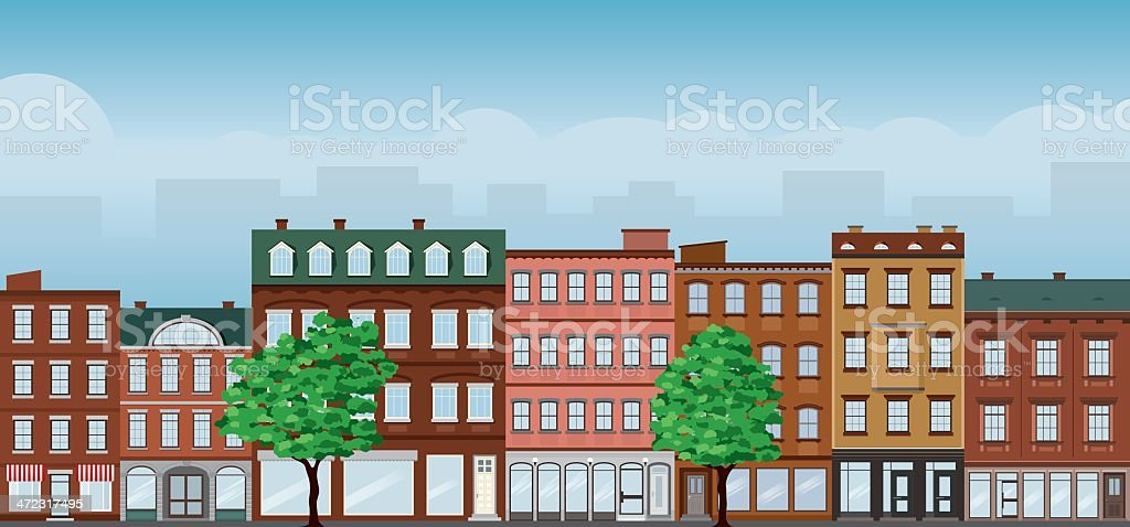 Street Front royalty-free stock vector art