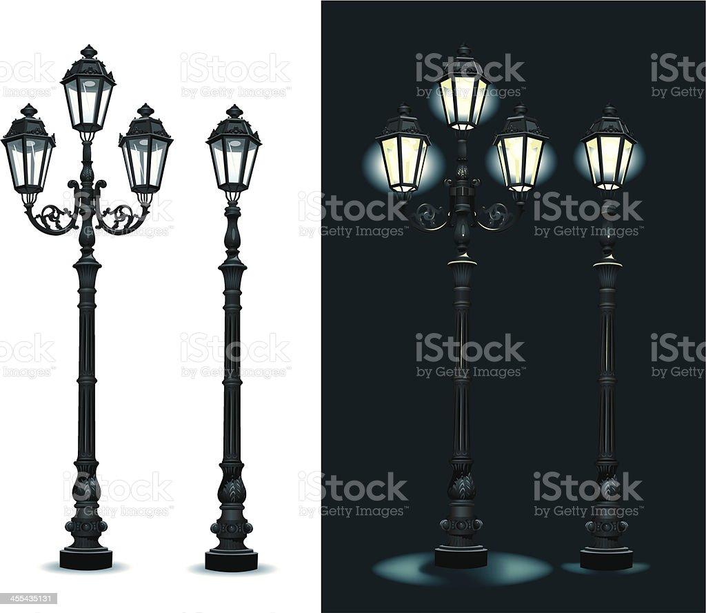Street Lamps - Lighting Equipment vector art illustration