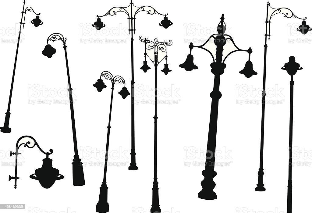 Street lamps royalty-free stock vector art