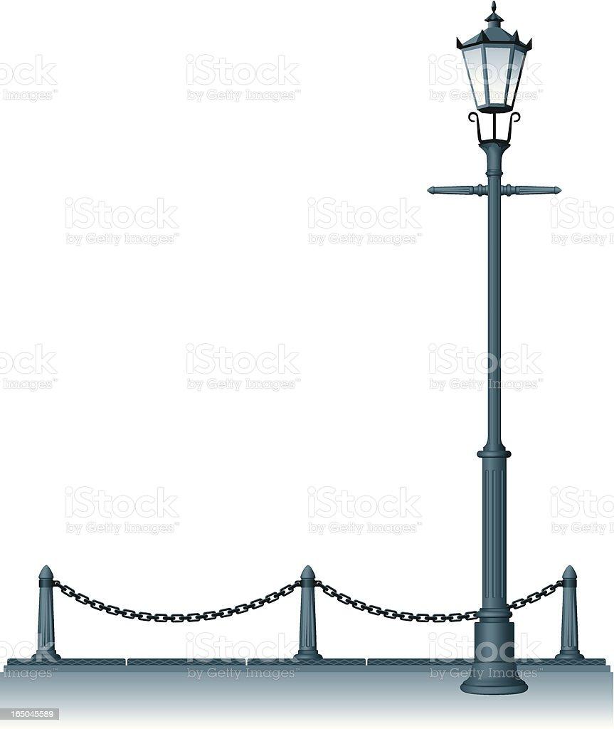 street lantern vector art illustration