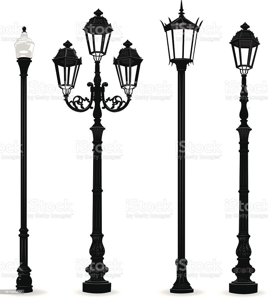 Street Lights - Lighting Equipment vector art illustration