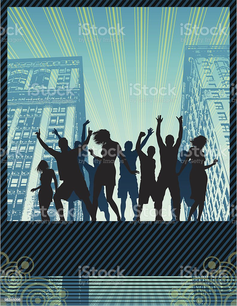 Street party banner vector art illustration