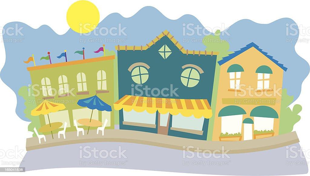 Street Scene vector art illustration