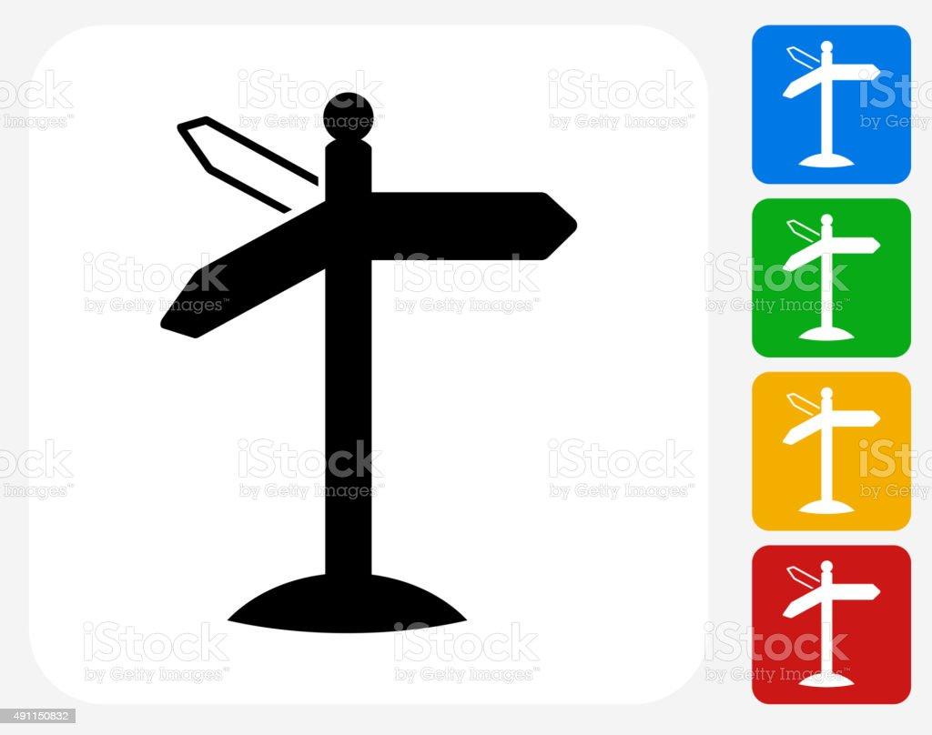 Street Sign Icon Flat Graphic Design vector art illustration
