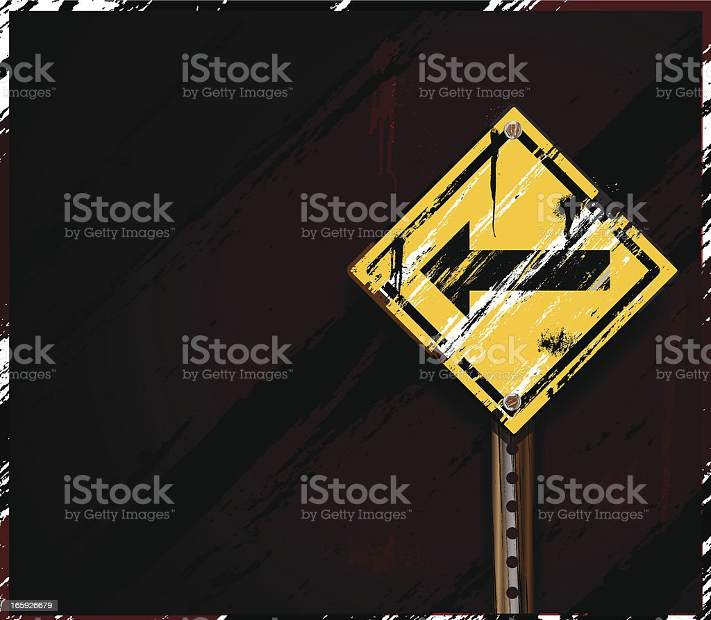 Street Sign   Urban Grunge royalty-free stock vector art
