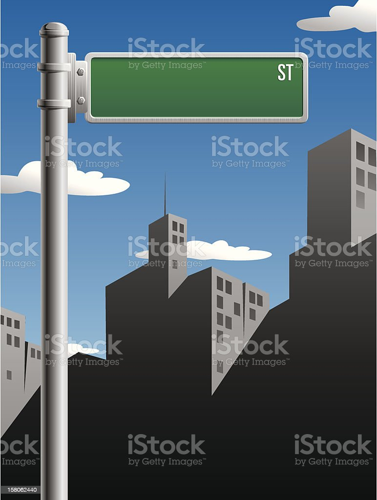 Street Sign vector art illustration