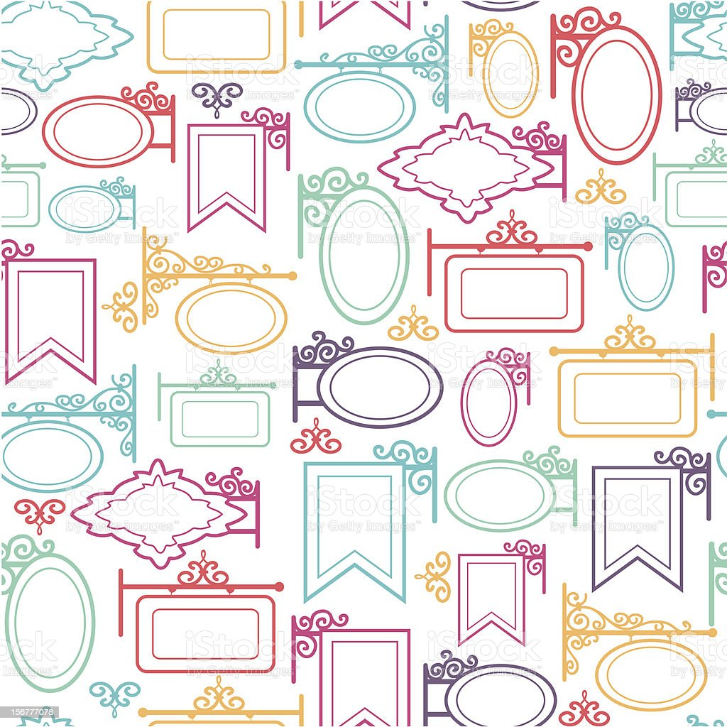 Street Signs Blank Seamless Patterns Background royalty-free stock vector art