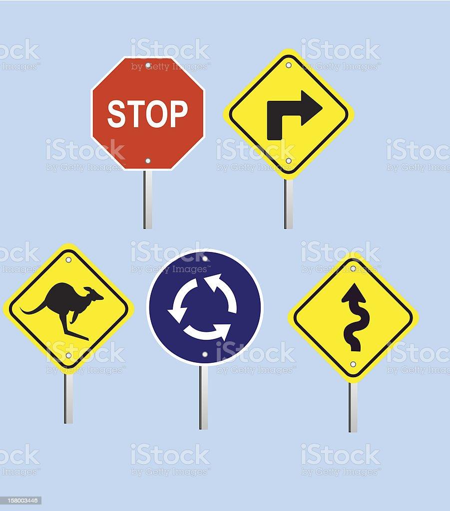 Street Signs vector art illustration