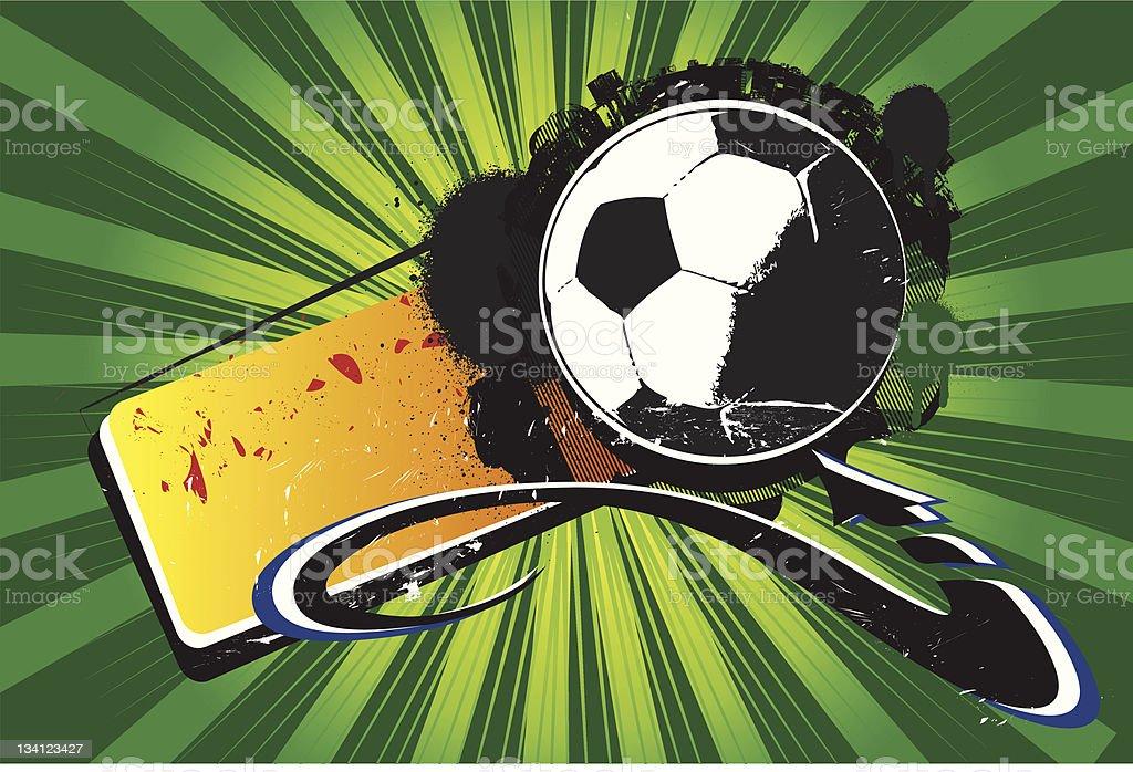 Street Soccer vector art illustration