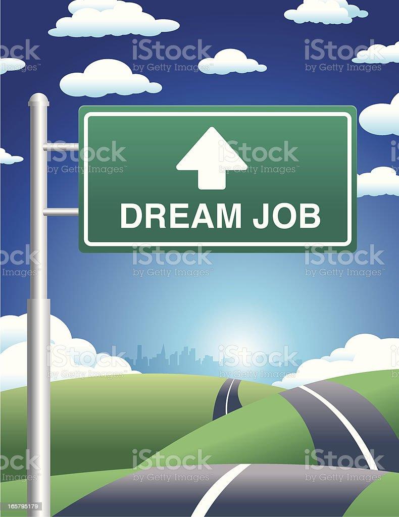 Street to Dream Job vector art illustration