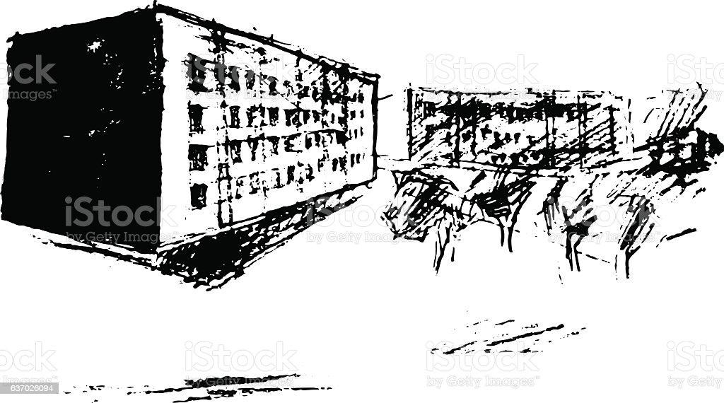 Street, vector illustration vector art illustration