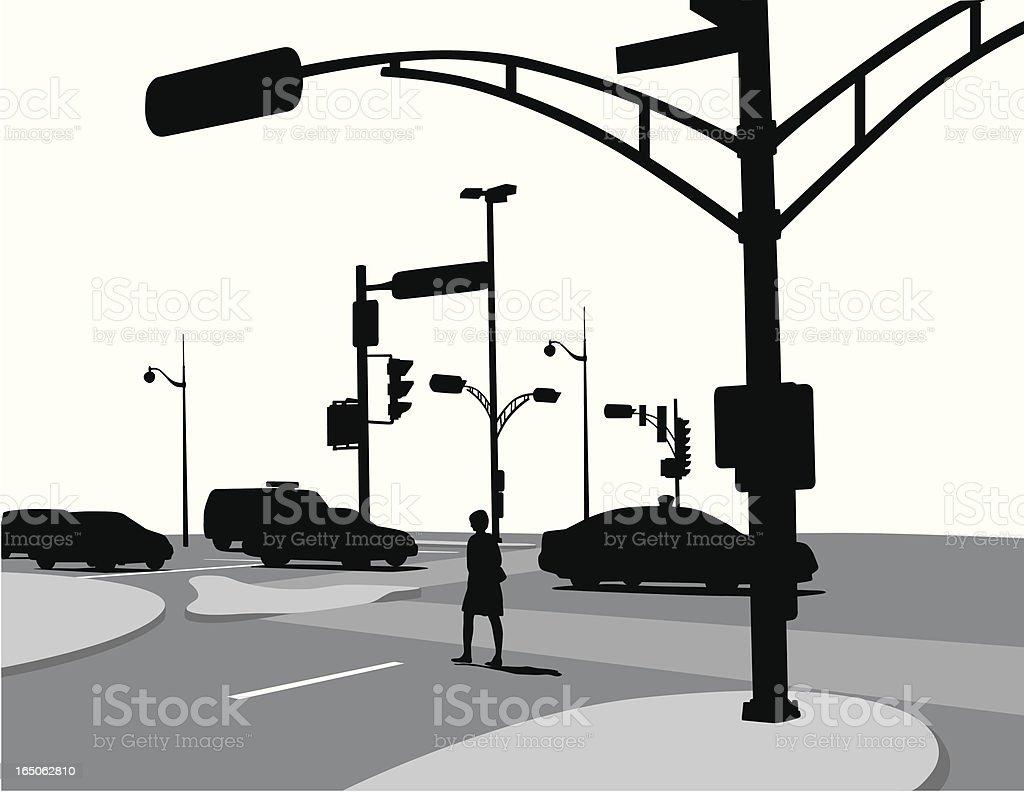 StreetCorner vector art illustration