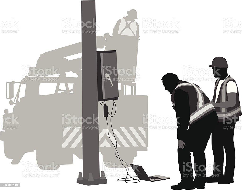 StreetLightEmergency vector art illustration